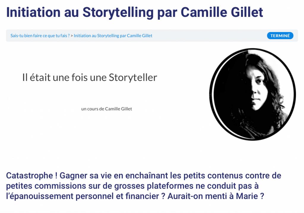capture storytelling Camille Gillet