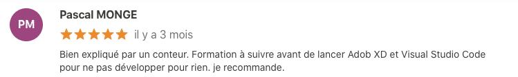 commentaire positif Pascal bien expliqué