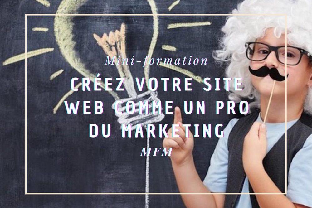 créez site pro marketing, enfant moustachu