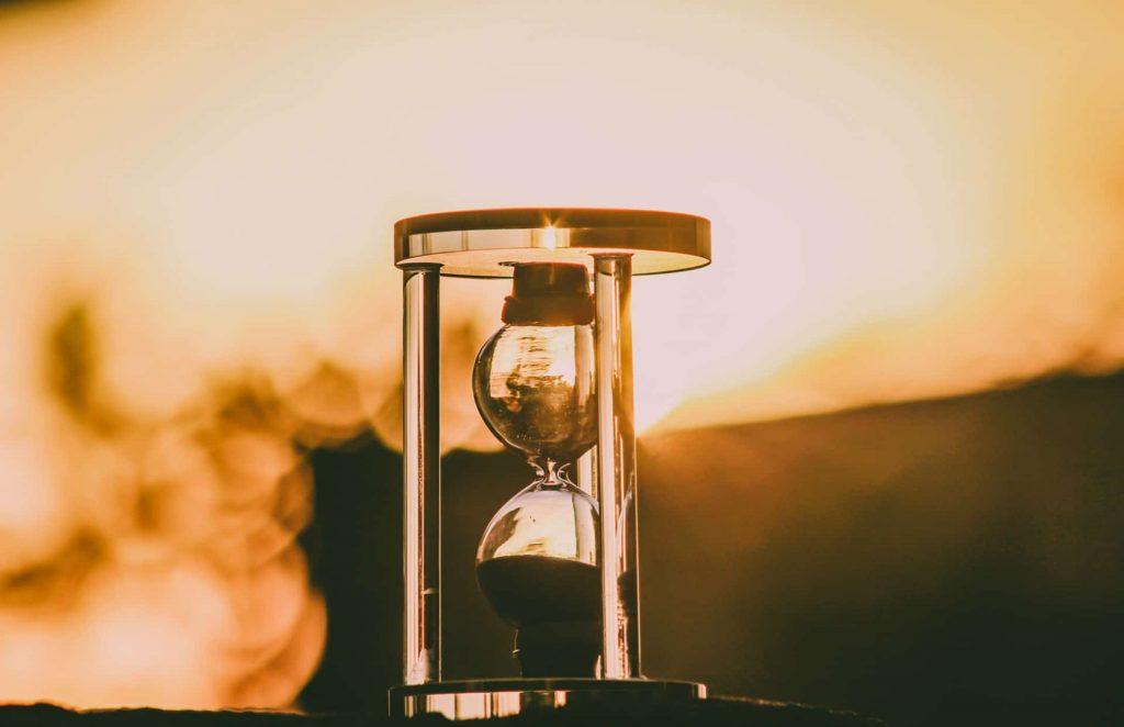 sablier du temps