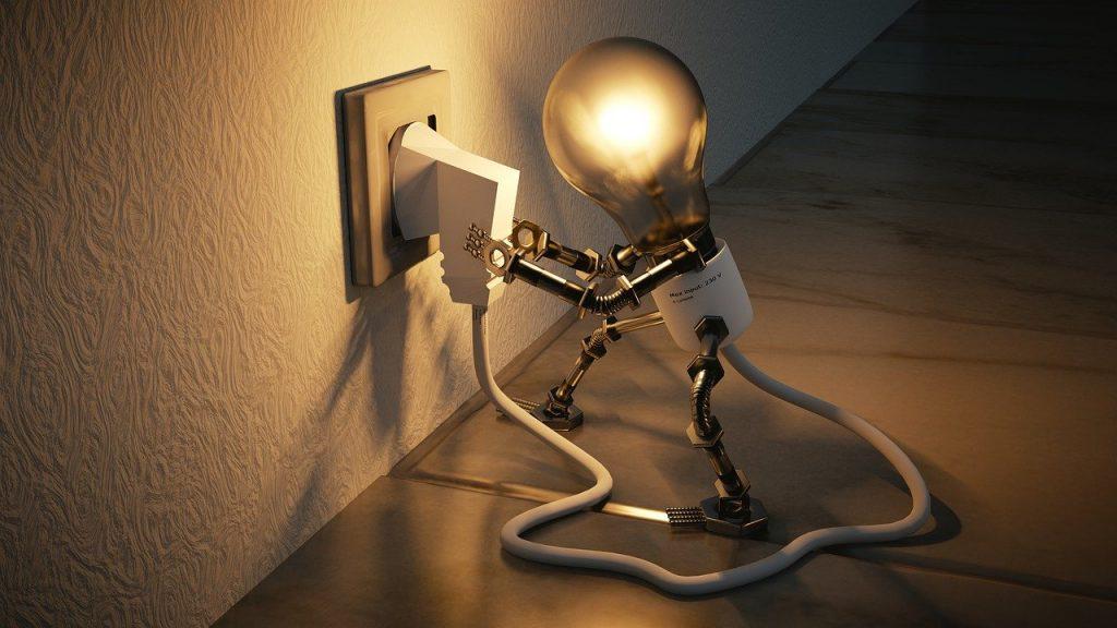 branchement d'ampoule