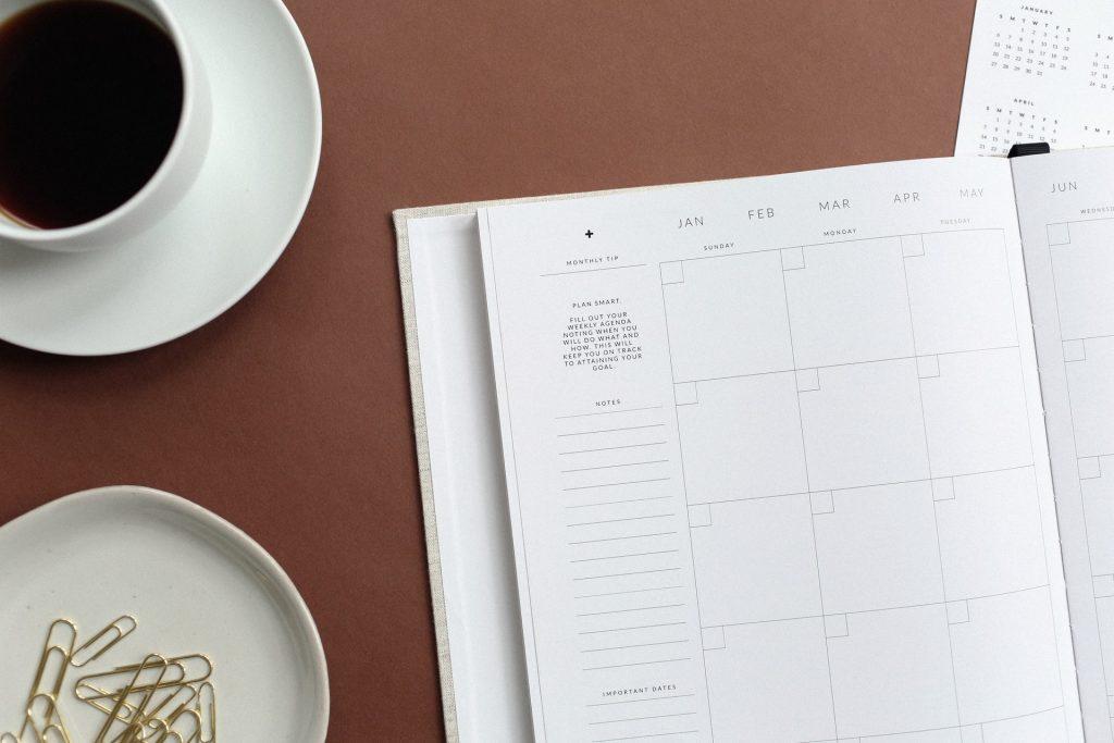 café et agenda