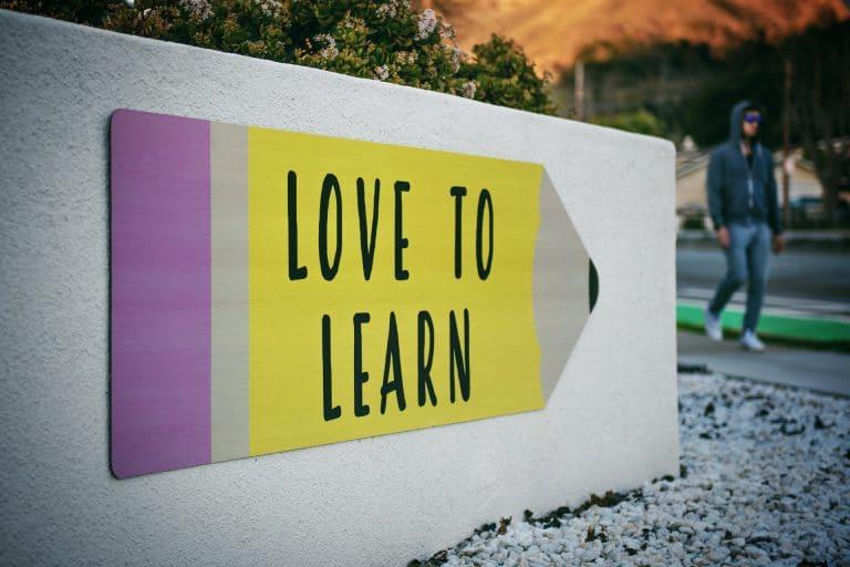 panneau love to learn